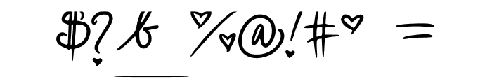 cutesy_hand Font OTHER CHARS