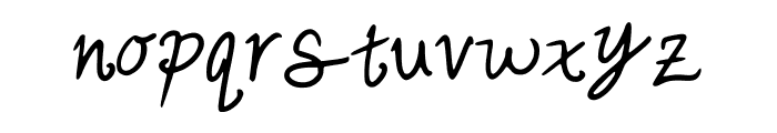 cutesy_hand Font LOWERCASE