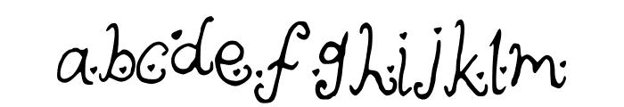 cutieheartz Font LOWERCASE
