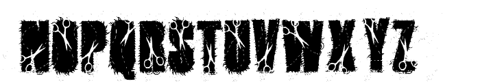 cutter Font UPPERCASE