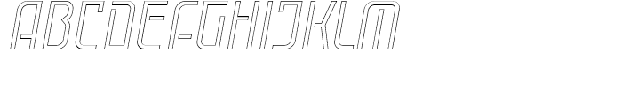 Cuantica Outline Italic Font UPPERCASE