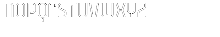 Cuantica Outline Font LOWERCASE