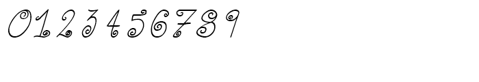Curly Deb Italic Font OTHER CHARS
