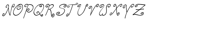 Curly Deb Italic Font UPPERCASE