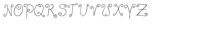 Curly Deb Thin Font UPPERCASE