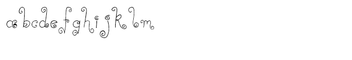 Curly Deb Thin Font LOWERCASE