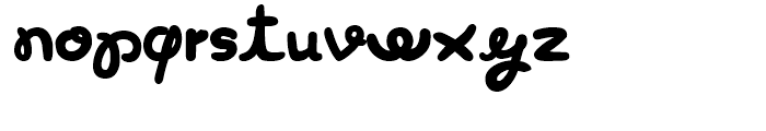 Curly Luly Regular Font LOWERCASE