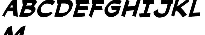 Cutthroat Intl Bold Italic Font UPPERCASE