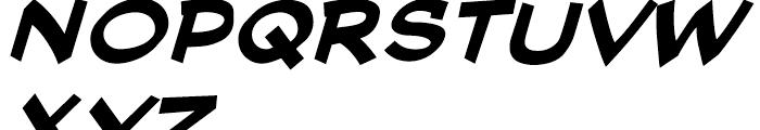 Cutthroat Intl Bold Italic Font LOWERCASE