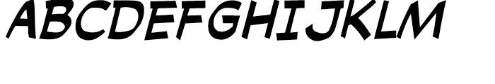 Cutthroat Intl Italic Font UPPERCASE