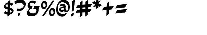 Cutthroat Intl Regular Font OTHER CHARS