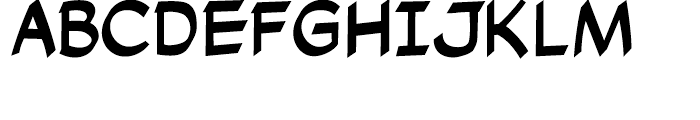 Cutthroat Intl Regular Font UPPERCASE