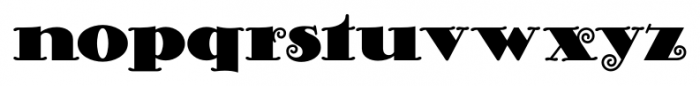 Curly Shuffle NF Regular Font LOWERCASE