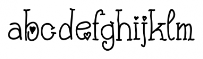 Cute Letters Hearted Font LOWERCASE
