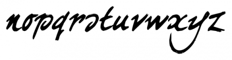 curlyJoe Regular Font LOWERCASE