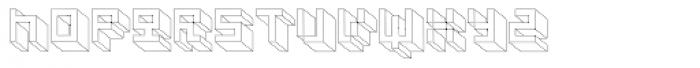 Cubage Block Font UPPERCASE
