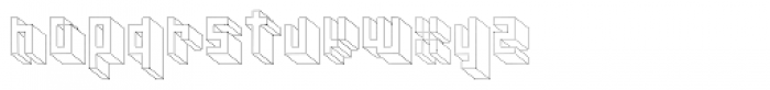 Cubage Block Font LOWERCASE