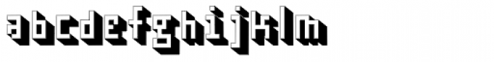 Cubage Shadow Font LOWERCASE