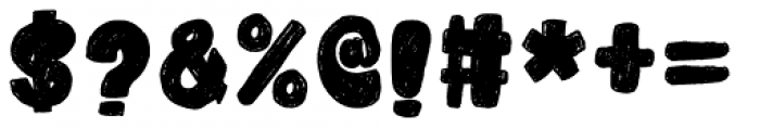 Cubby Brush Regular Font OTHER CHARS