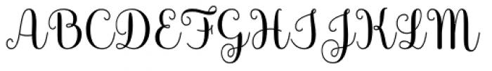 Culinary Script Bold Font UPPERCASE