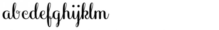 Culinary Script Bold Font LOWERCASE