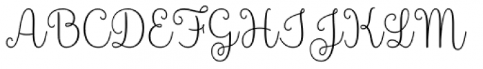 Culinary Script Light Font UPPERCASE