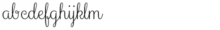Culinary Script Light Font LOWERCASE