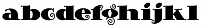 Curly Shuffle NF Heavy Font LOWERCASE