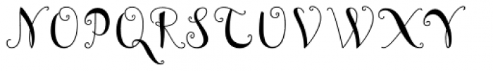 Curly Font UPPERCASE