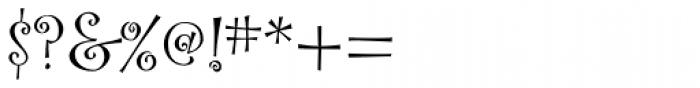 Curlz Pro Regular Font OTHER CHARS