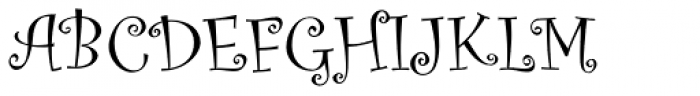 Curlz Pro Regular Font UPPERCASE