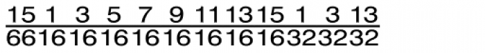 Currency Pi Font UPPERCASE