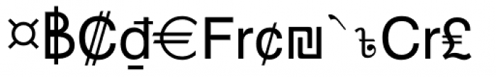 Currency Pi Font LOWERCASE