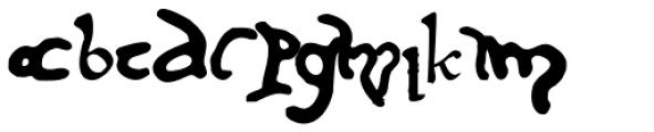Cursivo Saxonio Font LOWERCASE
