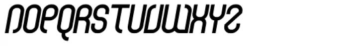 Curvature Bold Italic Font UPPERCASE