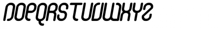 Curvature Rounded Italic Font UPPERCASE
