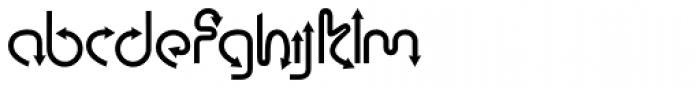Curves Font LOWERCASE