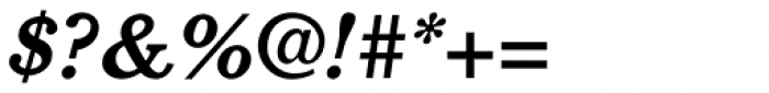 Cushing Bold Italic Font OTHER CHARS