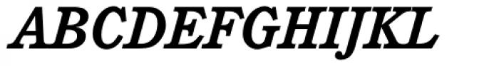 Cushing Bold Italic Font UPPERCASE
