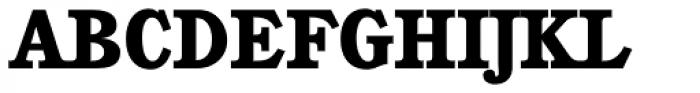 Cushing Heavy Font UPPERCASE