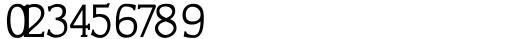CushingTwo SmCap Figures Font OTHER CHARS