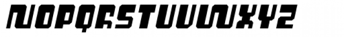 Cusp Bevel Oblique Font UPPERCASE
