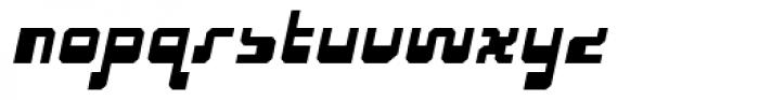 Cusp Bevel Oblique Font LOWERCASE
