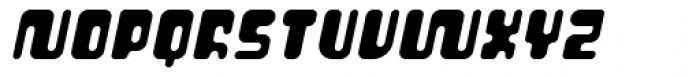 Cusp Globular Oblique Font UPPERCASE