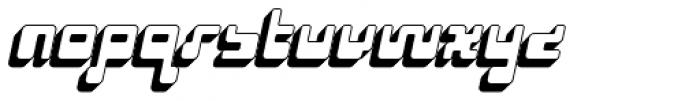 Cusp Rounder Oblique 3-D Font LOWERCASE