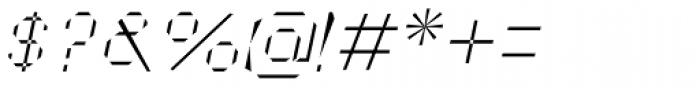 Cut Sans Serif Oblique Font OTHER CHARS