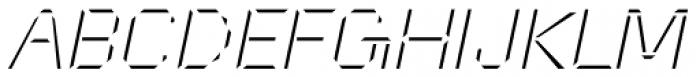 Cut Sans Serif Oblique Font UPPERCASE