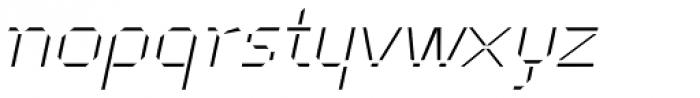 Cut Sans Serif Oblique Font LOWERCASE