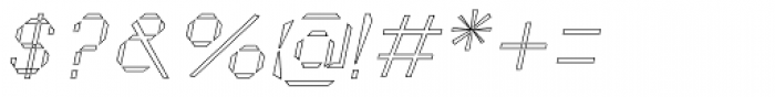 Cut Sans Serif Outline Oblique Font OTHER CHARS
