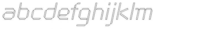Cut Sans Serif Outline Oblique Font LOWERCASE